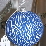 "Blue ""Zebra"" Ball Thomas Glenn Holidays"