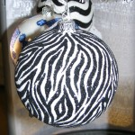 "Black ""Zebra"" Ball Thomas Glenn Holiday"