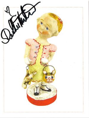 Debbee Thibault signed postcard