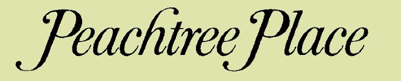 Peachtree Place Script Logo