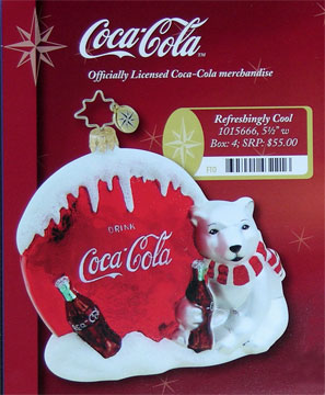 Radko Refreshingly Cool Coca Cola Ornament