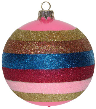 Thomas Glenn Hot Pink Stripe Ornament