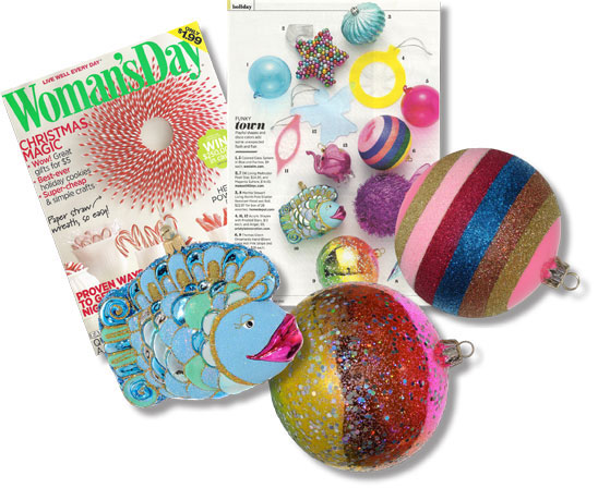 Woman's Day Mag Ornaments