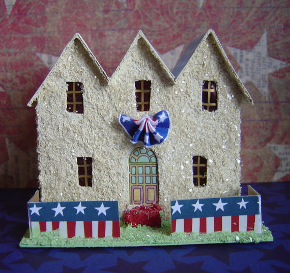 Patriotic Putz House