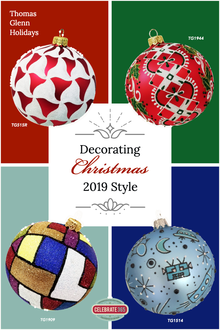 Four Ball Ornaments from Thomas Glenn Holidays for Sale from Celebrate365.com