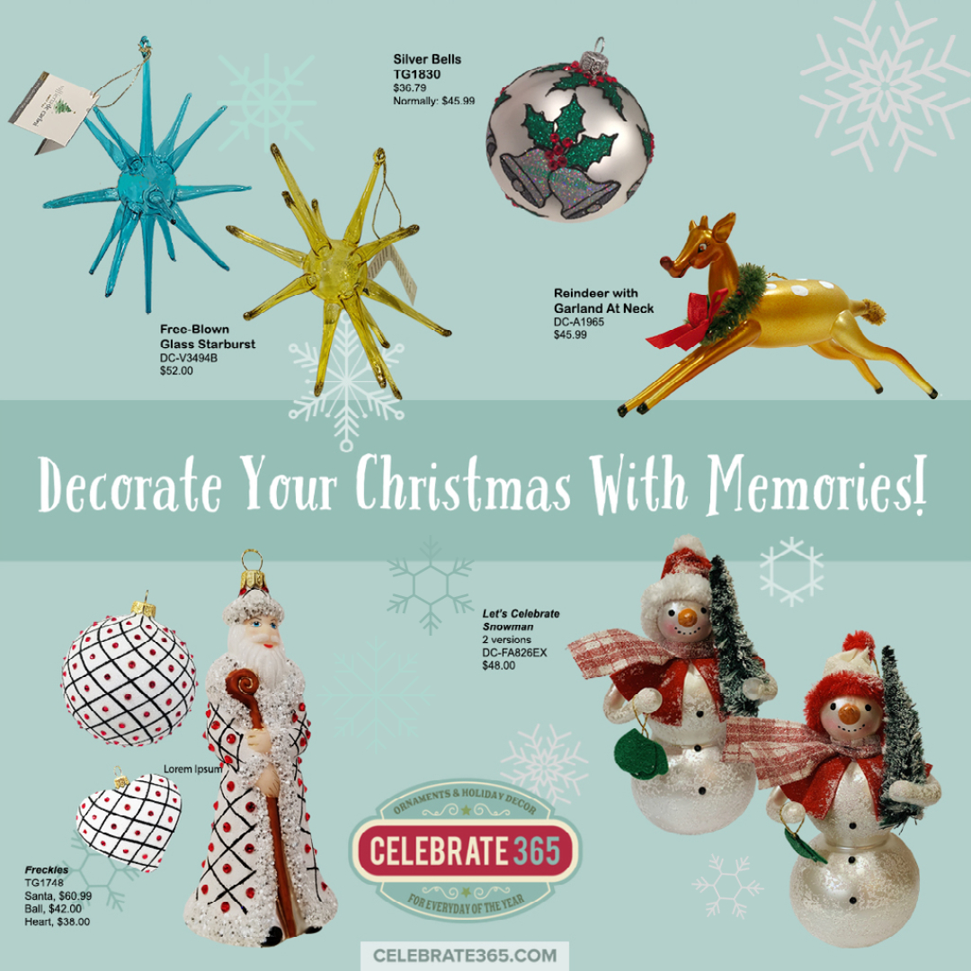 Holiday Ornaments Create Memories